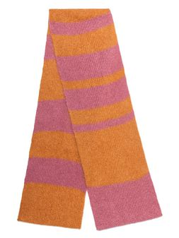 Marni Long scarf in pink and orange mohair Man