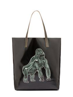 Marni Tote bag in PVC with gorilla print by Frank Navin Man