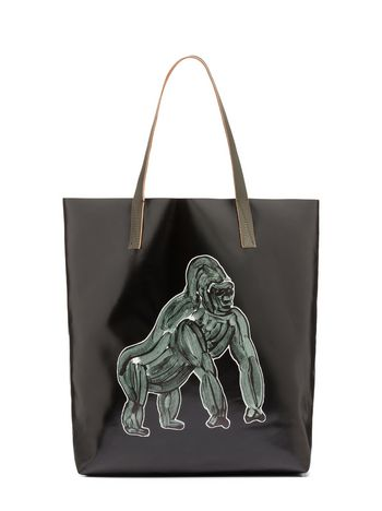 Marni Tote bag in PVC with gorilla print by Frank Navin Man