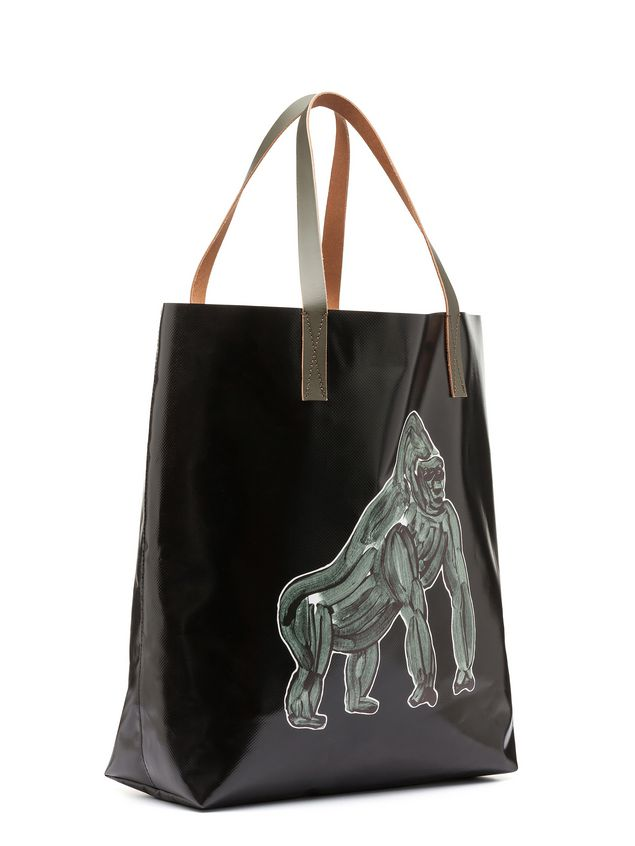 Marni Tote Bag In Pvc With Gorilla Print By Frank Navin Man 2