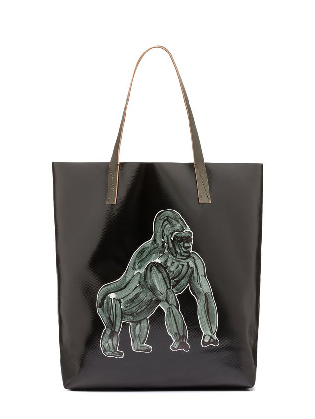 Marni Tote Bag In Pvc With Gorilla Print By Frank Navin Man 1
