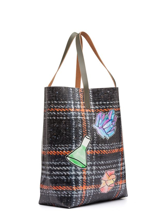 Marni Tote bag in PVC with alchemy print by Frank Navin Man - 2