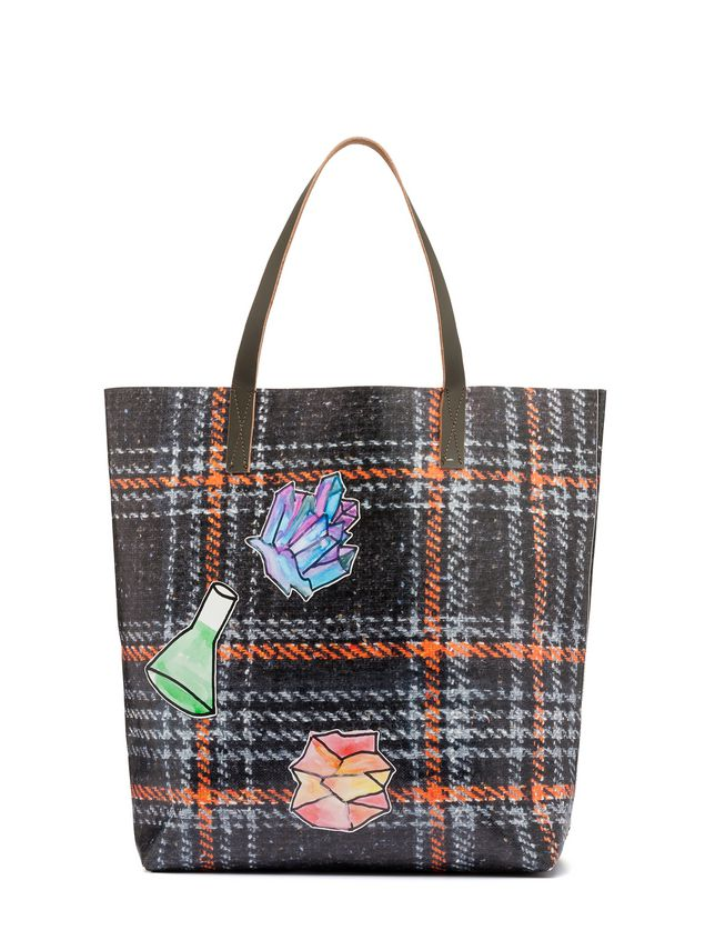 Marni Tote Bag In Pvc With Alchemy Print By Frank Navin Man 1