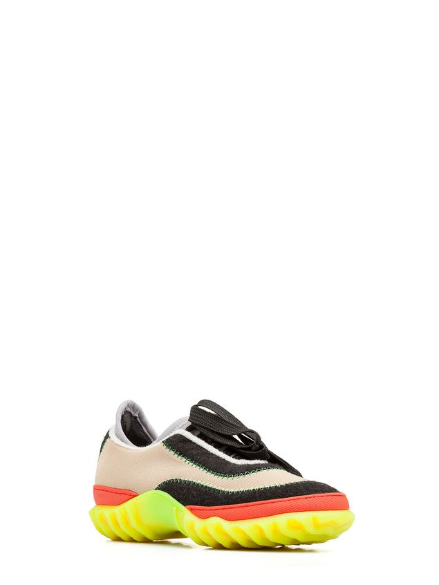 Marni Sneaker in fabric with zigzag stitching Man - 2