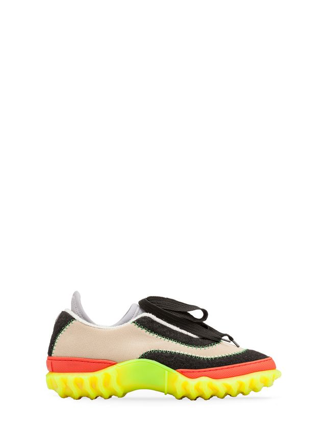 Marni Sneaker in fabric with zigzag stitching Man - 1