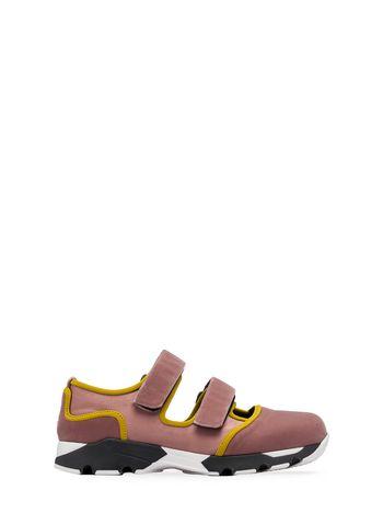 Marni Sneaker in velluto rosa cipria inserti a contrasto Donna