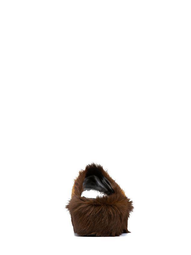 Marni Wedge in long-haired calfskin Woman
