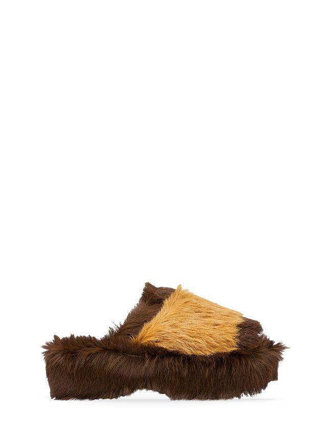 Marni Wedge in long-haired calfskin Woman - 1