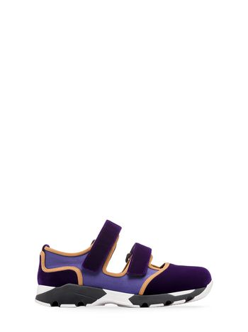 Marni Sneaker in purple velvet with contrasting insets Woman
