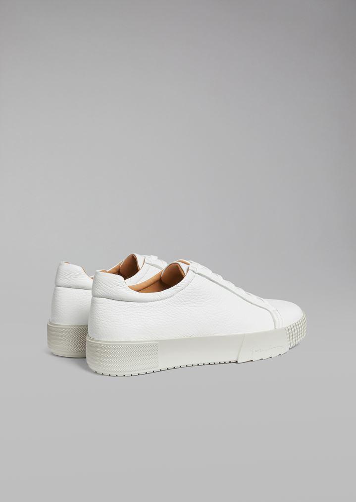 GIORGIO ARMANI Deerskin sneakers with logo heel detail Sneakers Man d