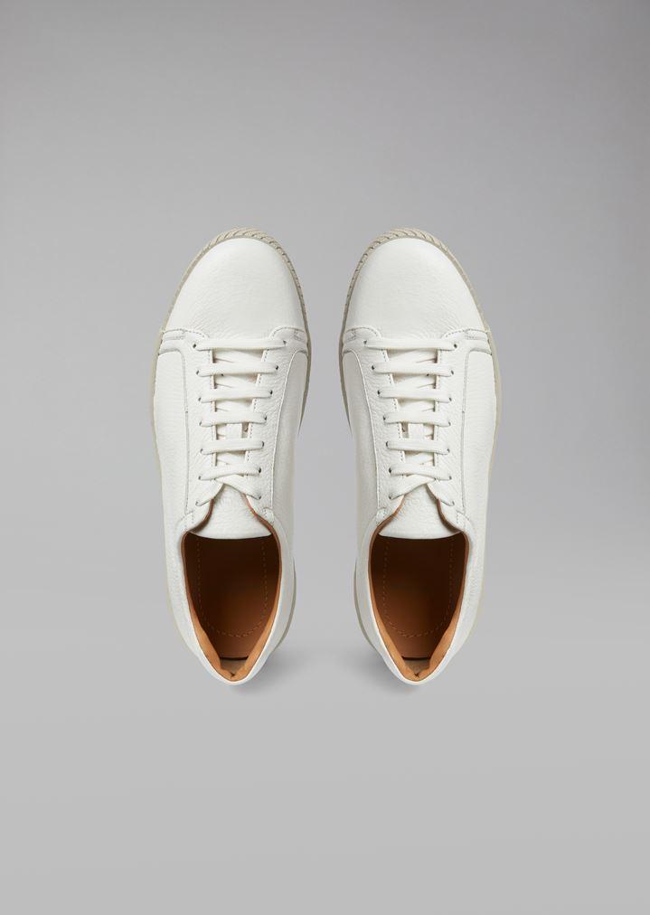 GIORGIO ARMANI Deerskin sneakers with logo heel detail Sneakers Man e