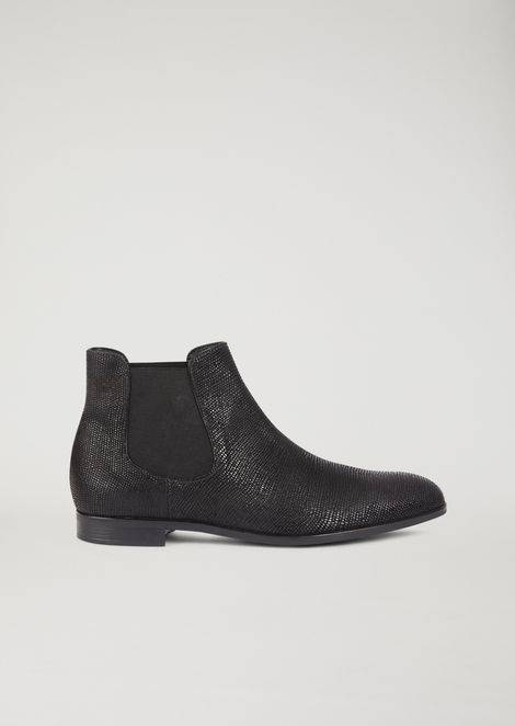 Beatles boots in lizard-effect cowboy leather
