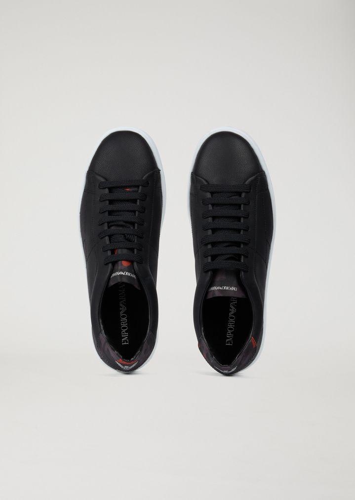 Sneakers in microfibra effetto nabuk  3329aab0945