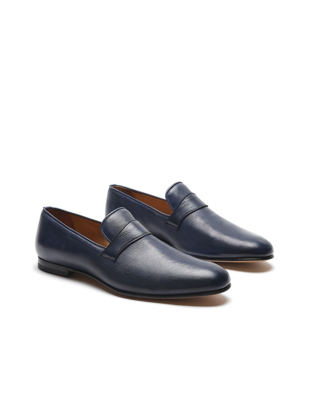 BRIONI Navy Blue Foot Glove Loafer Formal shoes Man d