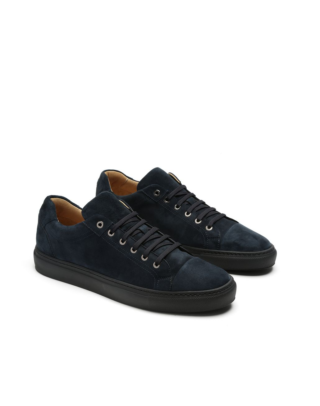 BRIONI Navy Blue Sneakers Sneakers Man d