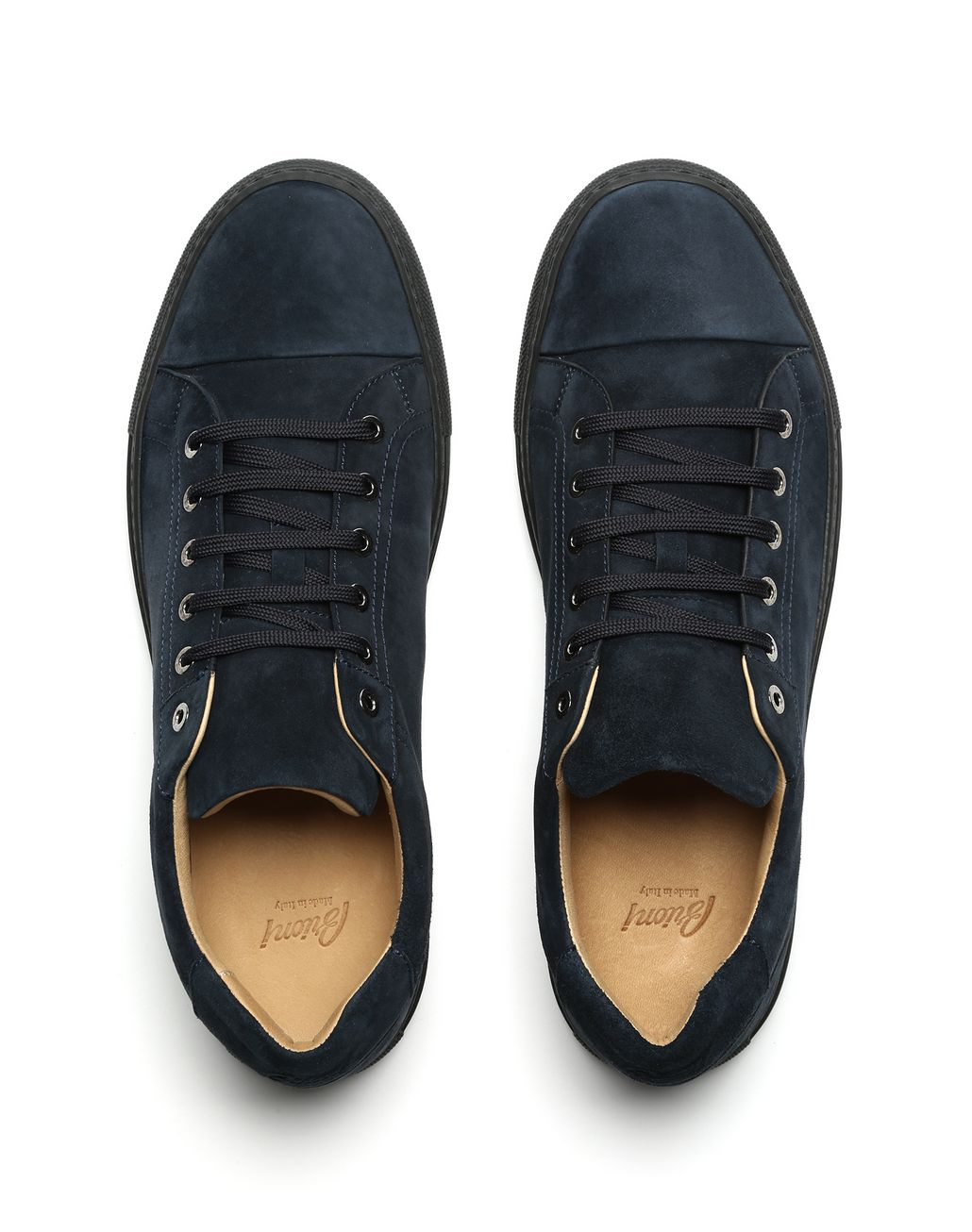 BRIONI Navy Blue Sneakers Sneakers Man r