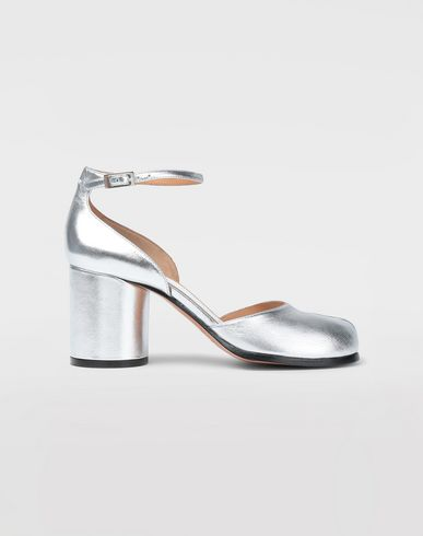 MAISON MARGIELA Tabi pumps Woman Silver Tabi sandals  f