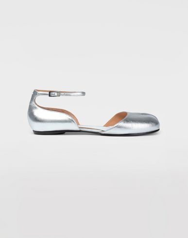 MAISON MARGIELA Tabi ballet flats Woman Silver Tabi sandals  f
