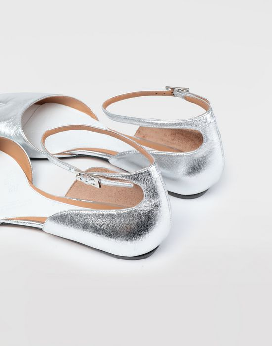 MAISON MARGIELA Silver Tabi ballet flats Tabi ballet flats [*** pickupInStoreShipping_info ***] b