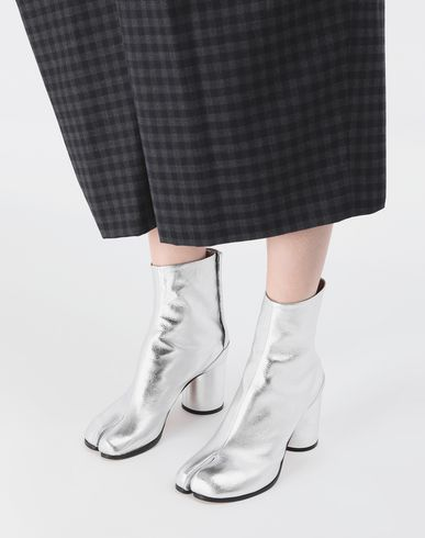 SHOES Silver Tabi boots