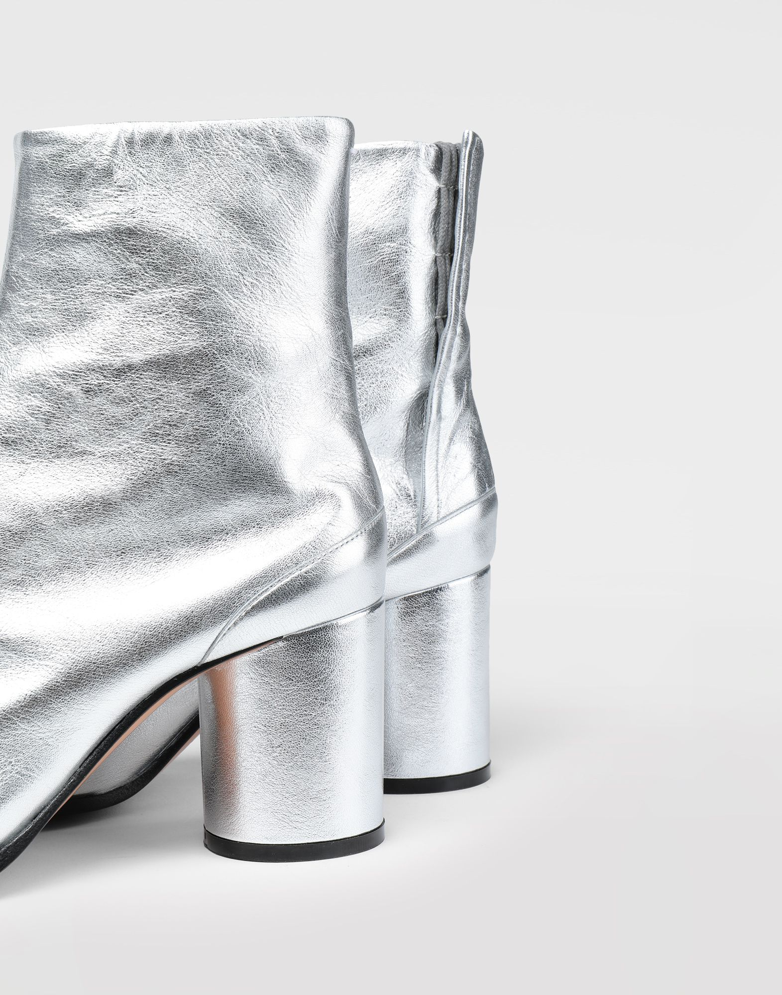 MAISON MARGIELA Silver Tabi boots Tabi boots & Ankle boots Woman b