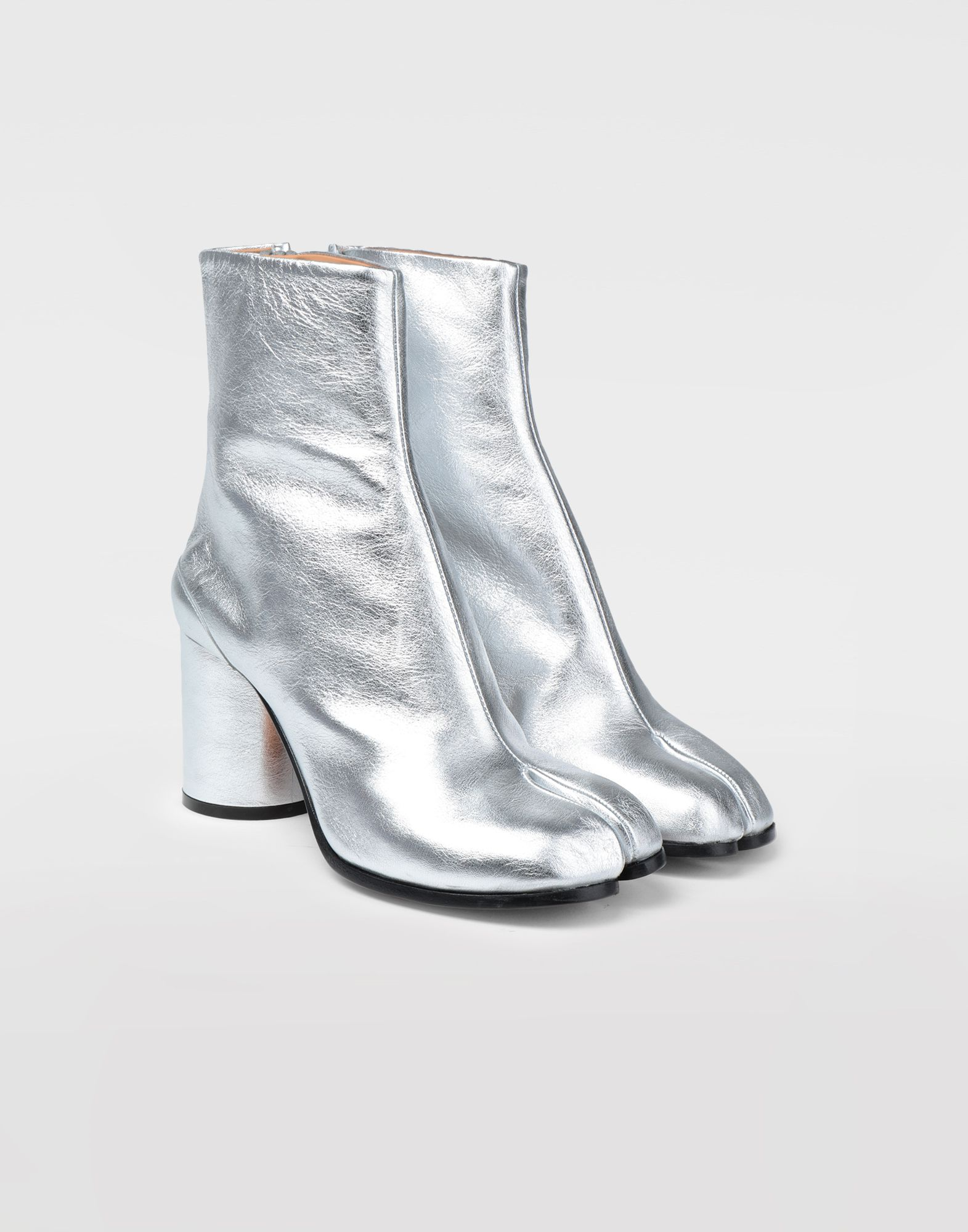 MAISON MARGIELA Silver Tabi boots Tabi boots & Ankle boots Woman d