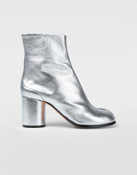 MAISON MARGIELA Silver Tabi boots Tabi boots & Ankle boots Woman f