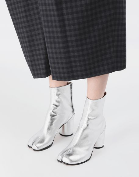 MAISON MARGIELA Silver Tabi boots Tabi boots & Ankle boots Woman r