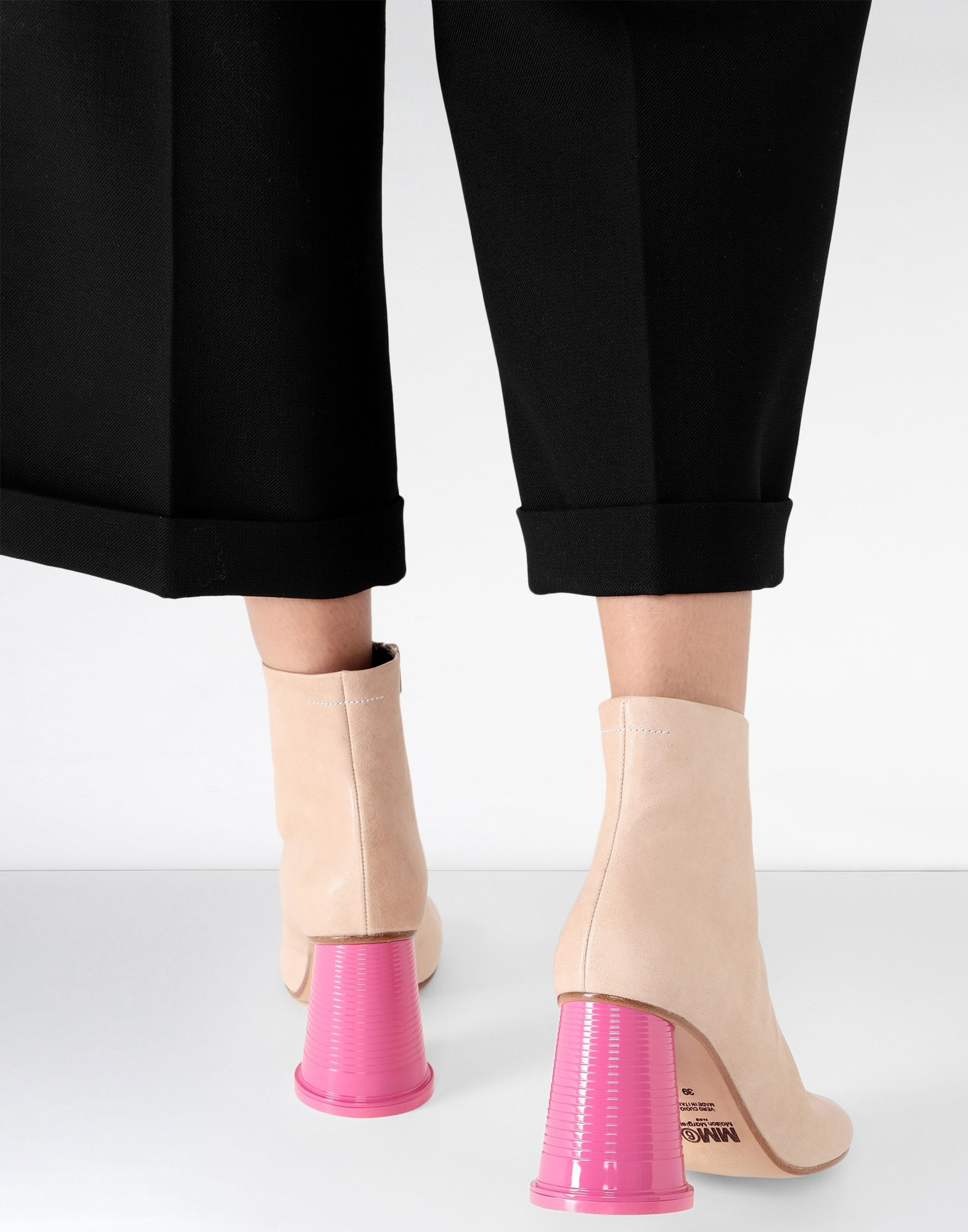 MM6 MAISON MARGIELA Ankle boots with cup heels Ankle boots Woman b