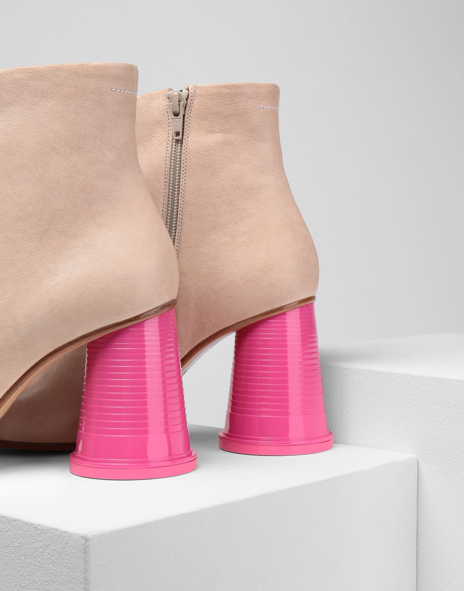 MM6 MAISON MARGIELA Ankle boots with cup heels Ankle boots Woman e