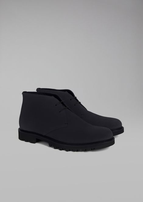 Suede desert boot with lug sole