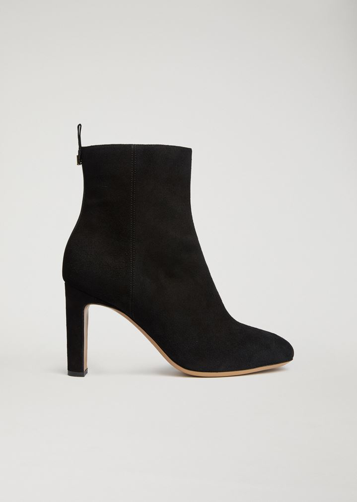 3af9a50c10 Ankle boot in suede-effect leather   Woman   Emporio Armani