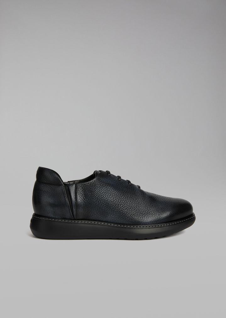 Con Zapatos Armani Cordones Piel Hombre Alce Délavé De Giorgio RFqdzxF