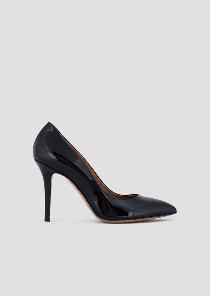 8a242e1673 Patent leather court shoes with stiletto heel | Woman | Emporio Armani