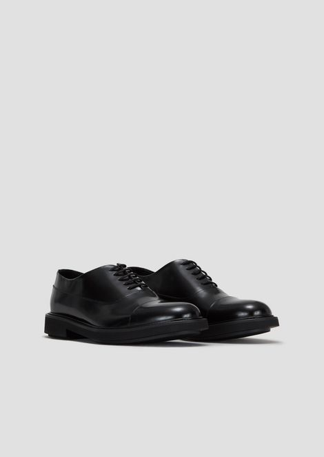 Derby shoes in brushed leather