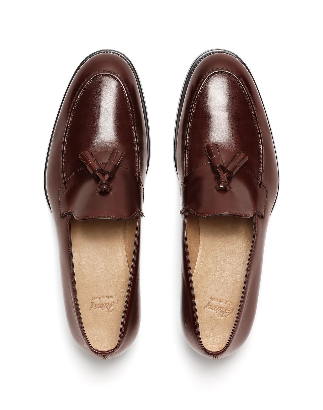 BRIONI Brown Tassel Loafer Loafers Man r