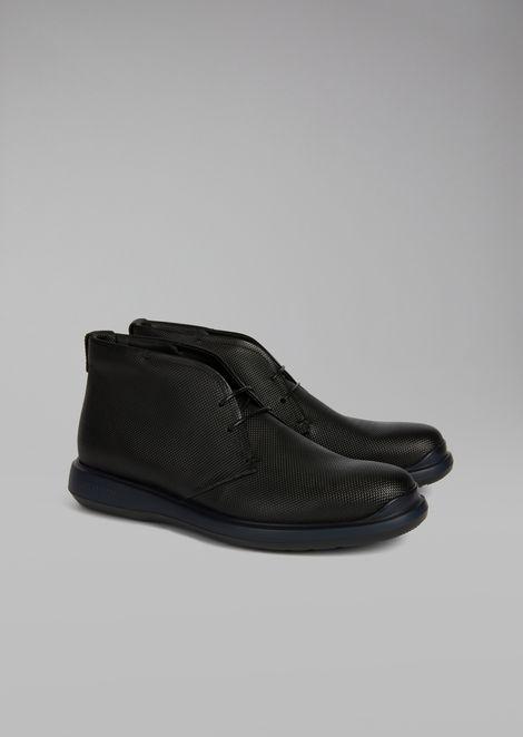 Botas de piel de becerro estampada