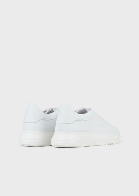 Deerskin sneakers with oversized sole