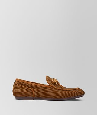 BV TRINITY LOAFER AUS VELOURSLEDER IN DARK LEATHER