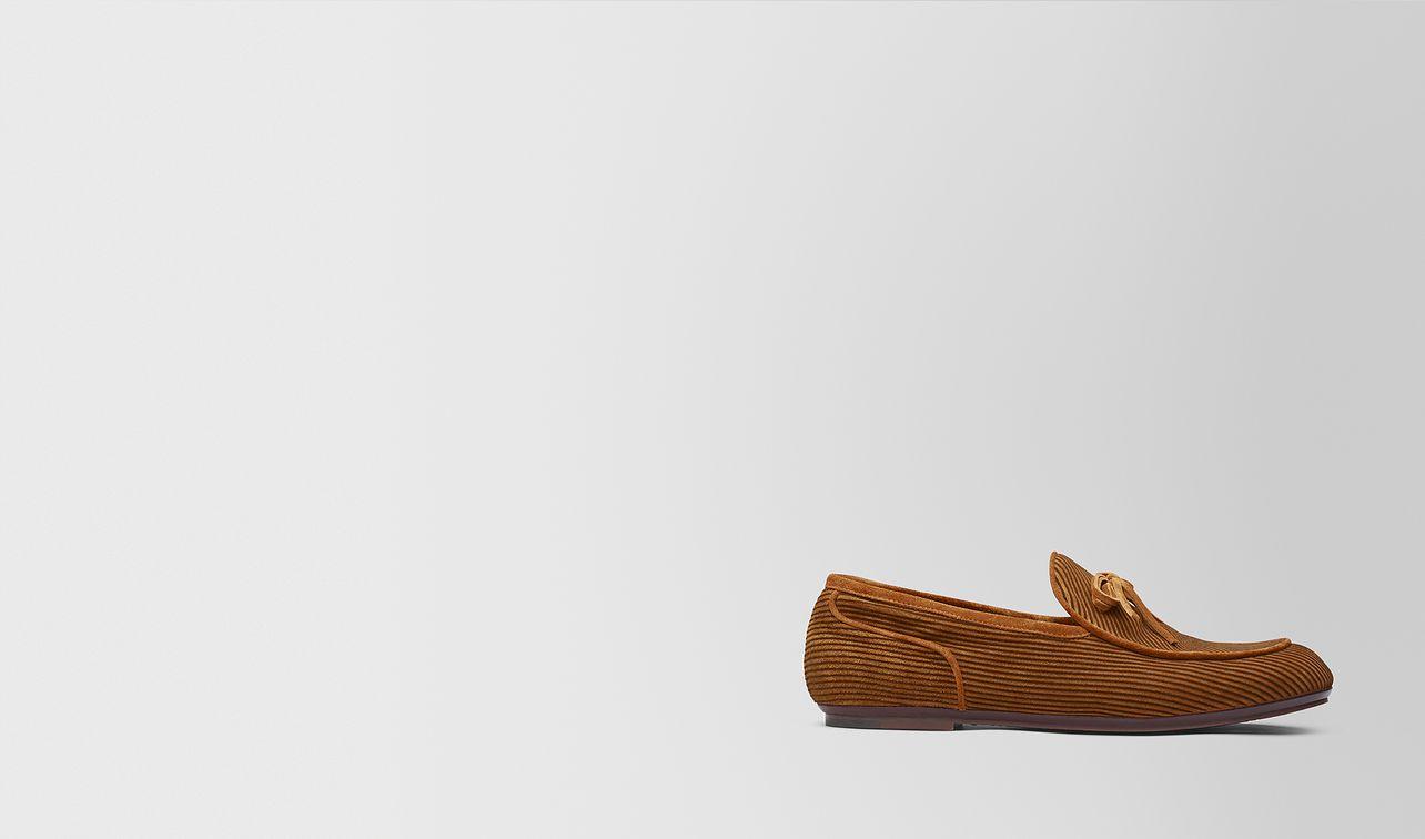 dark leather suede bv trinity loafer landing