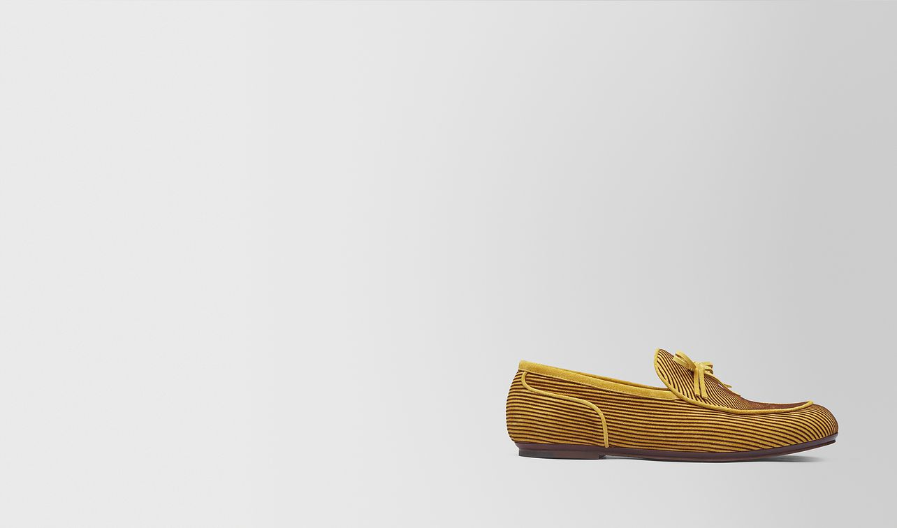 dark chamomile suede bv trinity loafer landing