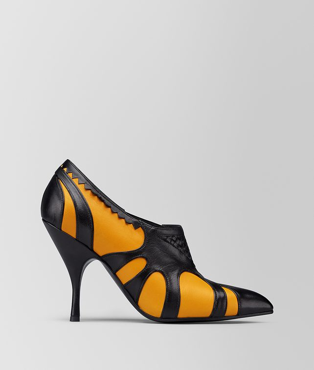 BOTTEGA VENETA MARIGOLD/NERO KID MOODEC FLAME PUMP Pump [*** pickupInStoreShipping_info ***] fp