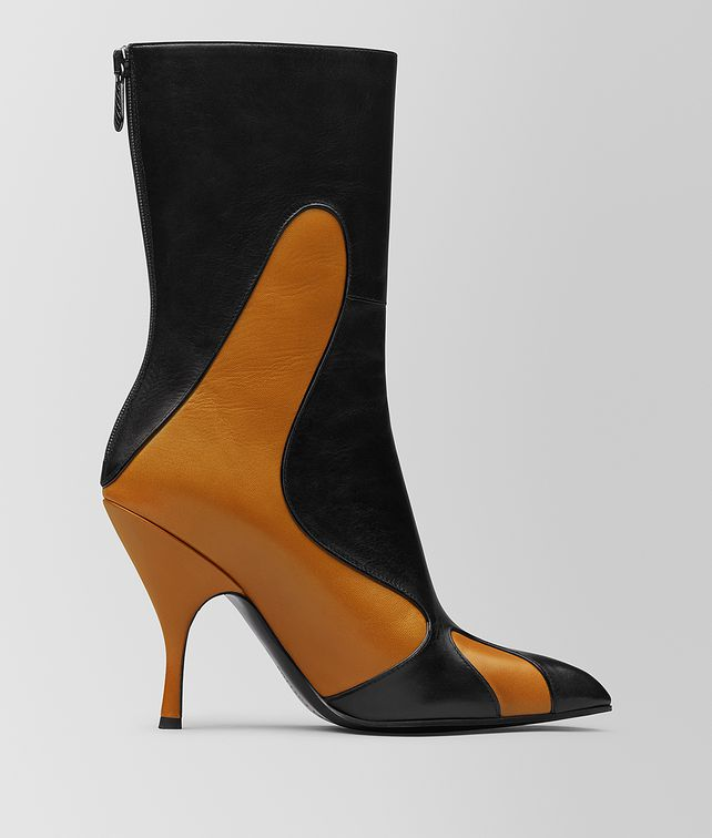 BOTTEGA VENETA ORANGE/NERO KID MOODEC FLAME ANKLE BOOT Boots and ankle boots [*** pickupInStoreShipping_info ***] fp