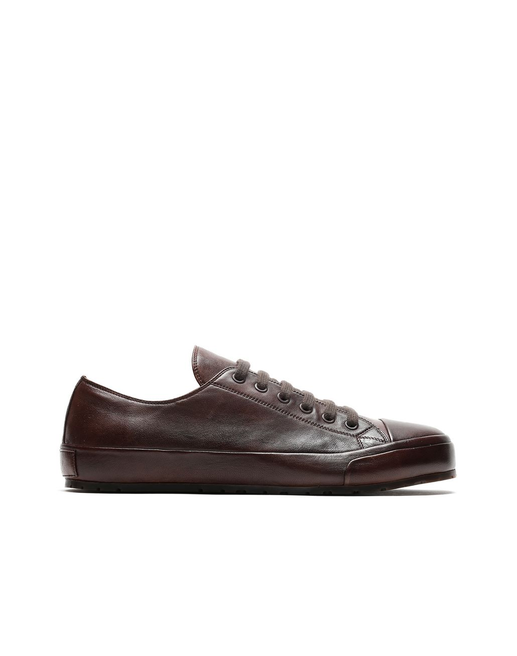 BRIONI Dark Brown Nappa Sneakers Sneakers Man f
