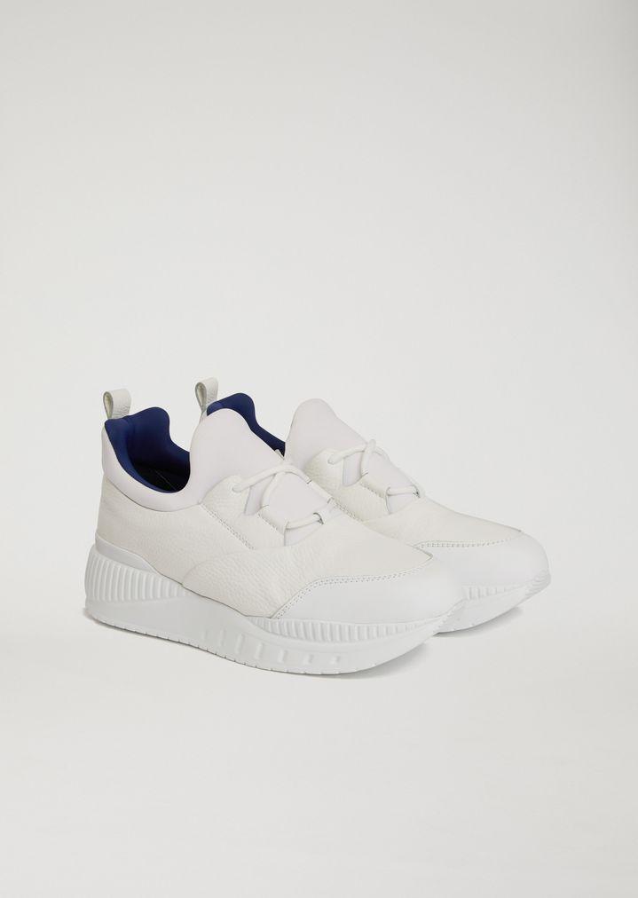 Emporio ArmaniLeather/Nylon Sneaker