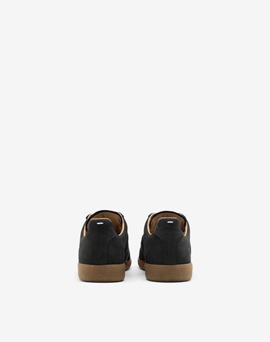 SHOES Suede paint drop 'Replica' sneakers Black