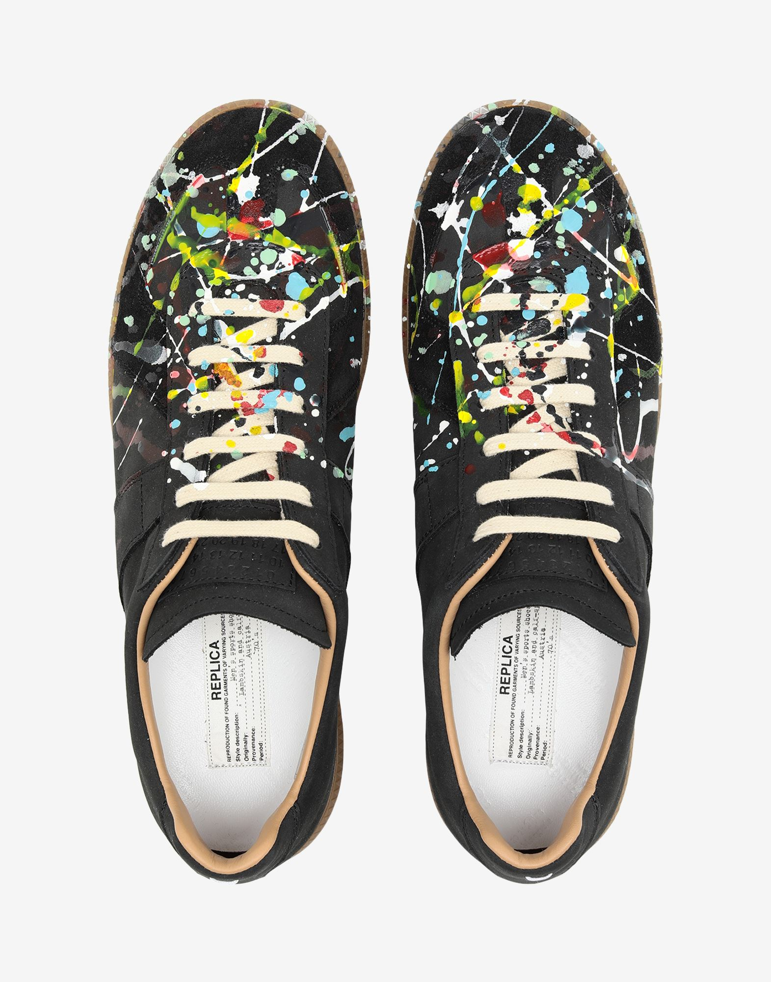 MAISON MARGIELA Suede paint drop 'Replica' sneakers Sneakers Man a
