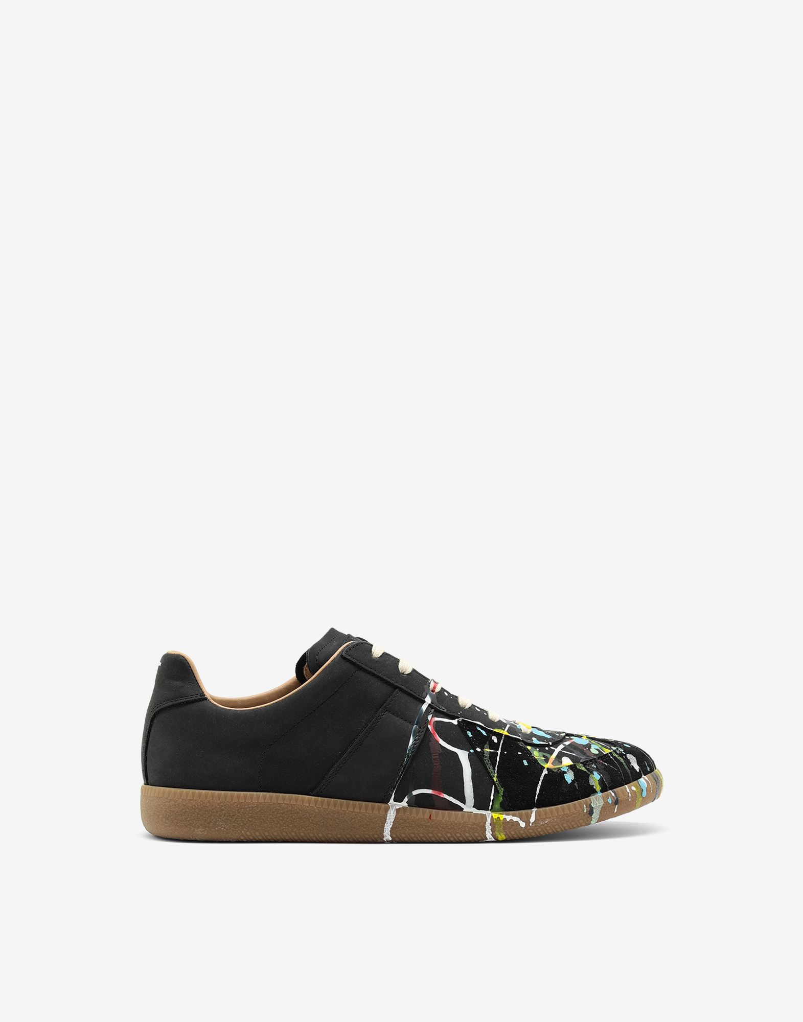MAISON MARGIELA Suede paint drop 'Replica' sneakers Sneakers Man f