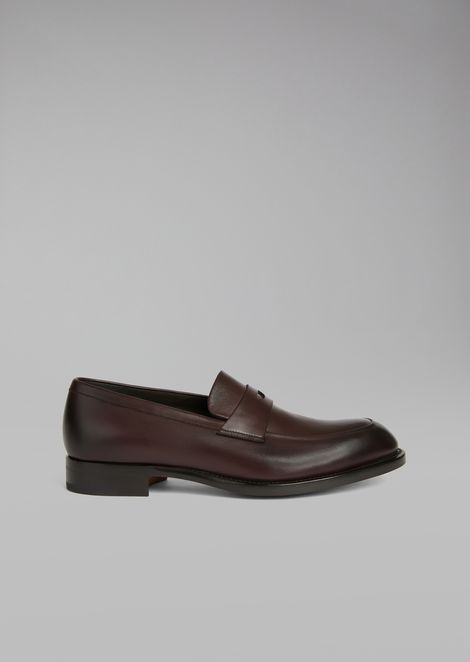 Galician calfskin leather loafer with saddle strap