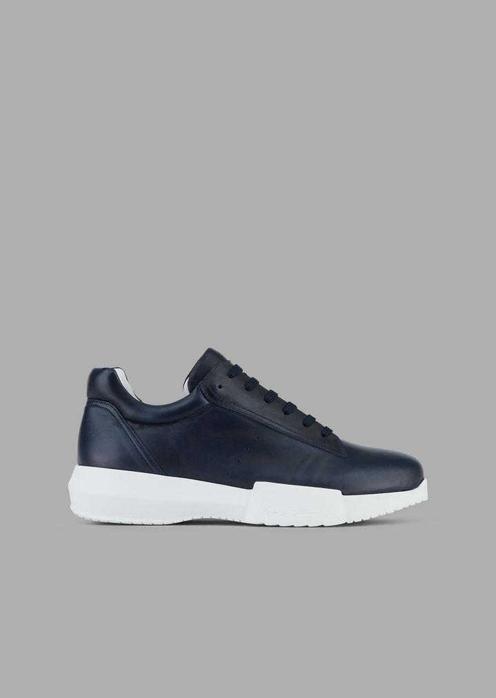 GIORGIO ARMANI Nappa leather sneakers Sneakers Man f